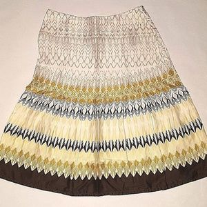 HM Skirt White Yellow Brown Womens Size 4